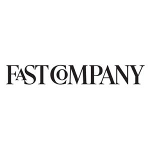 fast company plaing black and white logo